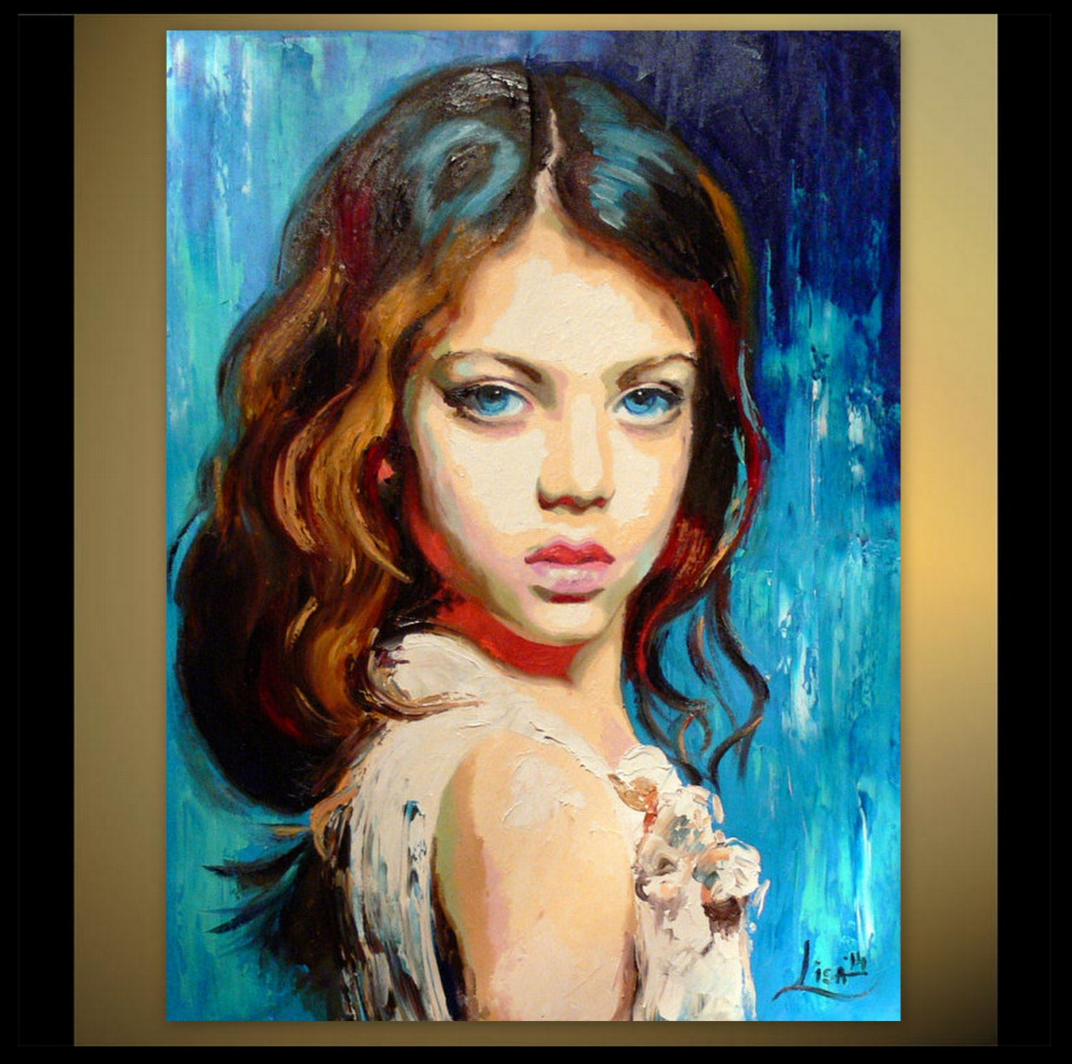 custom portrait painting oil painting portrait of a child