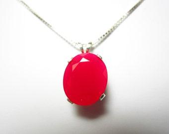 Scarlet Chalcedony Pendant