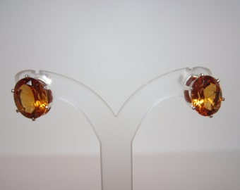 Brazilian Madeira Citrine Earrings