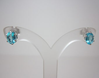Madagascar Blue Apatite Earrings