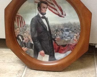 Vintage Lincoln Decorative Plate
