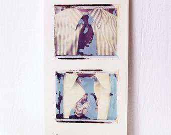 Men.  Neckties.  Polaroid Emulsion Transfers Printed On Hand Made, Fired Ceramic Slab.
