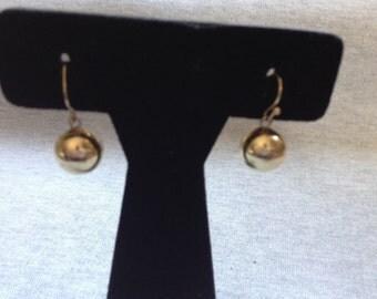 Vintage Costume Gold Beaded Earrings