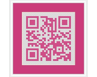 Happy Mother's Day QR Code PDF Cross Stitch Chart