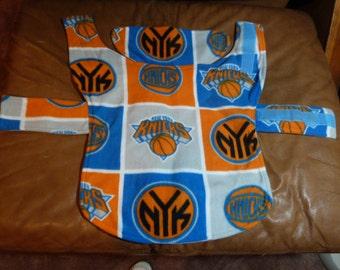 M NY Knicks NBA Fleece Dog Coat  (Medium)
