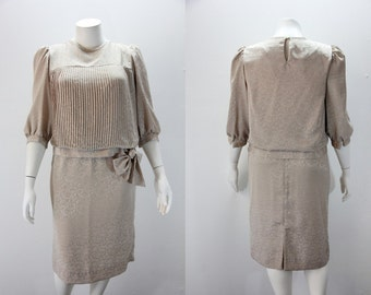 XL - XXL Vintage Dress 2 Piece Mother of the Bride