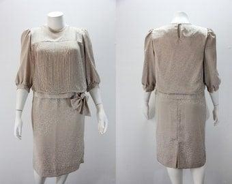XL - XXL Vintage Dress 2 Piece Mother of the Bride