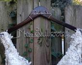 Wedding Dress Hanger with Date, Bride Hanger, Name Hanger, Mrs Hanger, Wedding Hanger, Personalized Hanger, Bride Gift