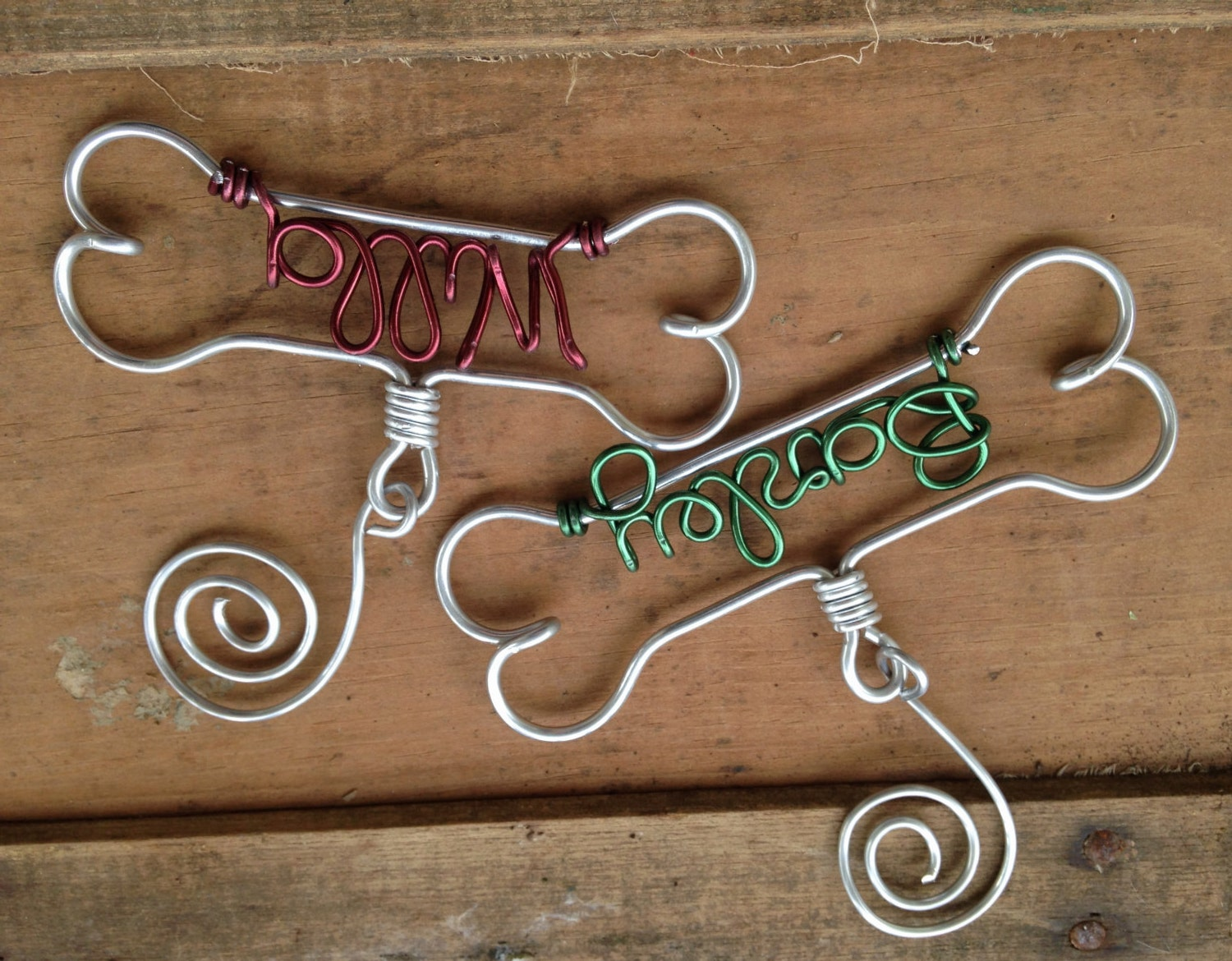 Personalized Pet Ornament Dog Bone Ornament By Deighandesign