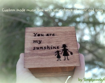music box, wedding music box, gift for daughter, mother of bride gift, you are my sunshine, personalized gift, simplycoolgifts, graduation