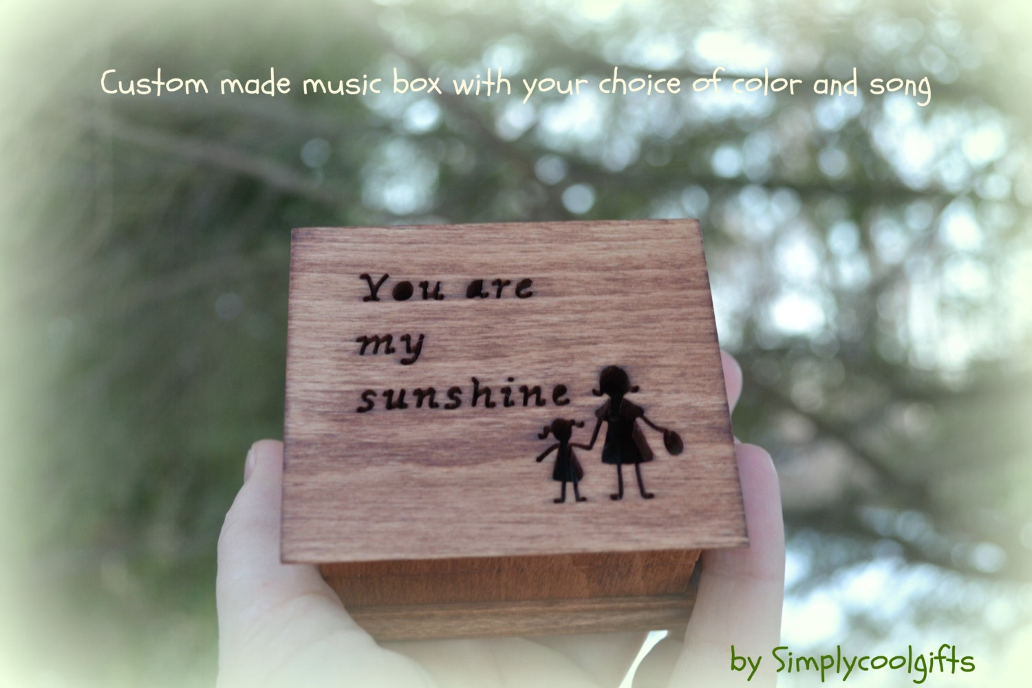 Music Box Wedding Music Box Gift For Daughter By Simplycoolgifts