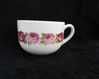 Cream Soup Mug: Hand decorated ceramic