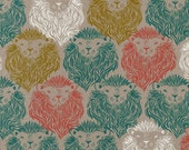 Cotton + Steel--Monarch Coral and Teal Canvas--August by Sarah Watts--price is per yard