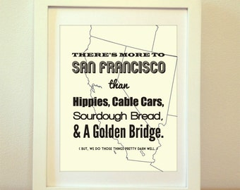 San Francisco, San Francisco Print, San Francisco Art, San Francisco Typography, San Francisco Sign, San Fran, Golden Gate Bridge
