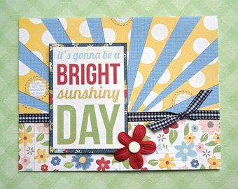 Handmade Card - Bright Sunshiny Day (ANY-03)