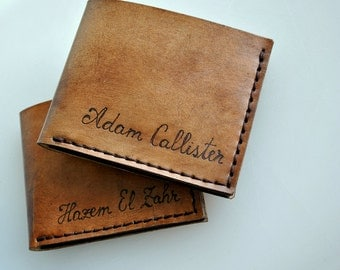 Personalized leather wallets custom engraved by styledbydeniss