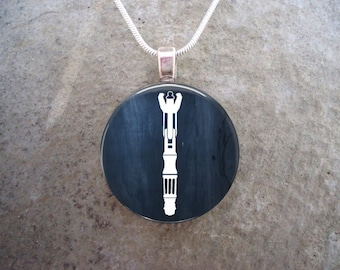 Doctor Who Jewelry - Glass Pendant Necklace - Matt Smith's Sonic Screwdriver