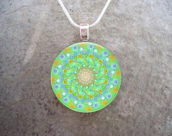 Mandala Jewelry - Glass Pendant Necklace - Mandala 32 - RETIRING 2017