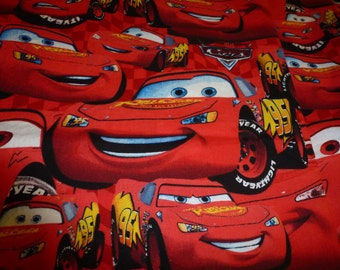 One Yard of Disney Pixar Cars Fabric Lightening McQueen Cotton Fabric Quilting