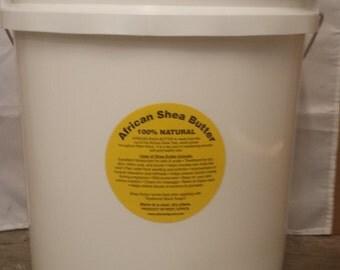 35lb raw unrefined shea butter in 5 gallon bucket