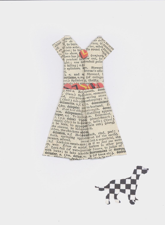 Robe de papier origami dalmatien dalmation dog - Robe en origami ...