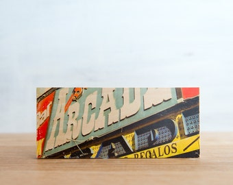 Arcade Sign Photo Transfer Mini - 'Arcade' by Patrick Lajoie, signage