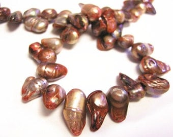 16 inch Strand  Cultured Freshwater Pearl Beads Dyed-8969