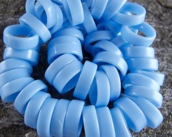 Vintage Blue Lucite Rings