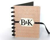 Monogrammed Wedding Planner Book Engagement Gift Bridal Organizer Wedding Scrapbook Personalized Gift Coral