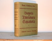 1963 Historia de la Literatura Espanola by Gustavo Gili, First Edition, Vintage Spanish Literature