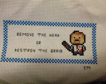 Pattern PDF:  Shaun of the Dead - How to Kill a Zombie - Instant Download!