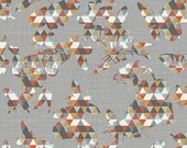 SALE - INDELIBLE by Katarina Roccella for Art Gallery Fabrics - Flutter Folds Spark - 1 Yard - Quilting Weight Cotton Fabric