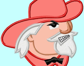 Colonel Mascot Applique Embroidery Designs 4 sizes,    hoops 4x4 5x7 6x10 INSTANT DOWNLOAD
