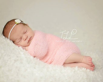 3 pack of Dainty Mini Rose Headbands - Photo Prop - Photography Prop - Baby Girl / Newborn - Many colors to choose from - Flower - Wool felt