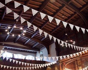 Downton abbey inspired bunting, luxury british design, perfect venue decoration, wedding uk