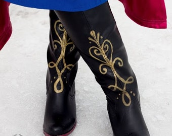 Princess Anna Frozen Hand Painted Boots