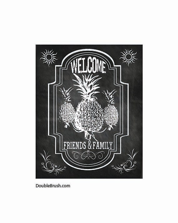 Welcome Home Decor Chalkboard Sign Welcome Art Chalkboard