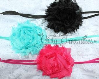 Shabby Headband Set. Baby Headband. Infant Headband. Girl Headband. Newborn Headband.