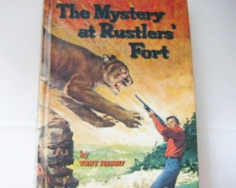 1954 Troy Nesbit Mystery The Mystery At Rustler's Fort Hardcover Book