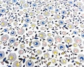 Quilting cotton with flower print, September blue collection from dashwood studio - special listing for IndiaGrace