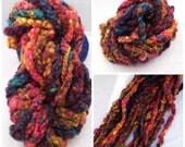 Handspun Art Yarn - Super Bulky Handspun Art Yarn- Corespun Coil Boils