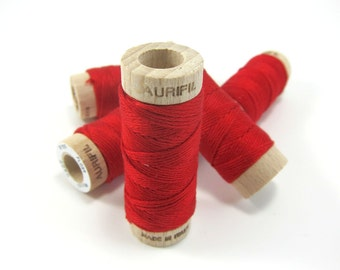 Embroidery Floss by Aurifil | Red Aurifloss, 6 strand Embroidery Floss for Cross Stitch, Hand Embroidery, Needlepoint Embroidery Thread