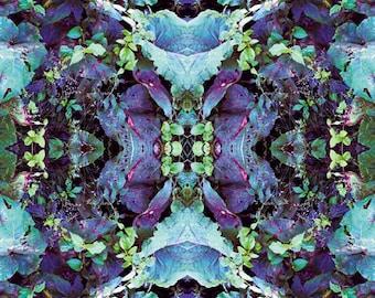 Mystic Foliage  - Psychedelic Kaleidoscopic Print