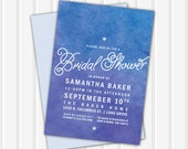 20 - Watercolor Bridal Shower Invite | 5x7 | Double Sided