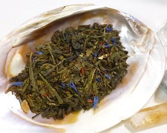 Tea Sample - Wonders -  Green loose leaf tea - Blueberry Guava