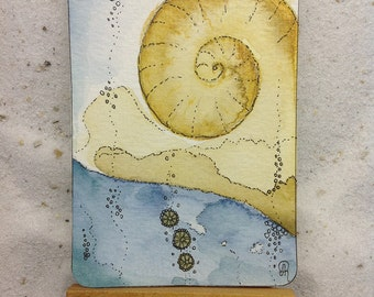 Original Watercolor - ACEO card