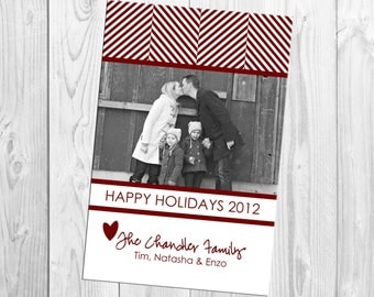 DIY Print Yourself Photo Holiday Card