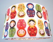 Lampshade, Pendant light RUSSIAN DOLLS, retro style