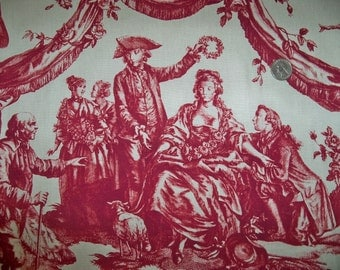 SCHUMACHER Le Couronnement De La Rosiere FRENCH TOILE Fabric 10 yards Rouge
