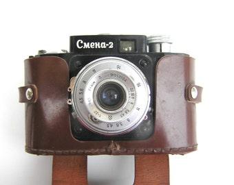 Smena 2 Soviet photo camera Smena 2 Russian photo camera USSR Retro photo cameras